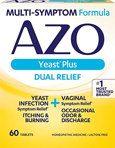 Azo Yeast Plus Tablets - 60 each, Pack of 5 - Packaging May Vary by AZO