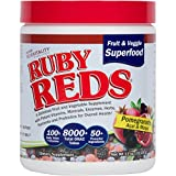Cheap Ruby Reds | Delicious Reds Powder Fruit & Vegetable Supplement with Potent Vitamins, Minerals, Enzymes, Herbs, Nutrients and Probiotics for Overall Health 11 oz. + RECIPE E-BOOK! (Pack of 1)
