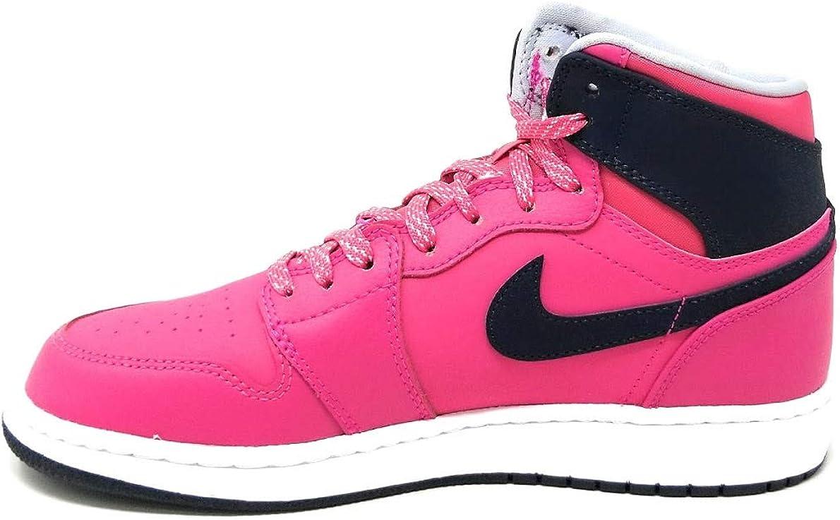 Nike 332148-505: Air Jordan Retro 1 (GG) Mulberry/Blue Girl Gradeschool Size