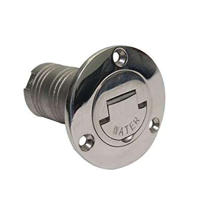 NRC&XRC 1-1/2 Boat Fuel Deck Fill/Filler with Keyless Cap 1-1/2 Marine 316 Stainless Steel Hardware for Boat Yacht Caravan 38mm