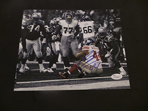 Ahmad Bradshaw Signed New York Giants Autographed 8x10 Photograph by 8x10 photograph