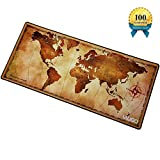 IAUGO Large Mouse Pad Extended Gaming Mouse Mat XXXL,Stitched Edges, Waterproof,Wide & Long Mousepad(old map)