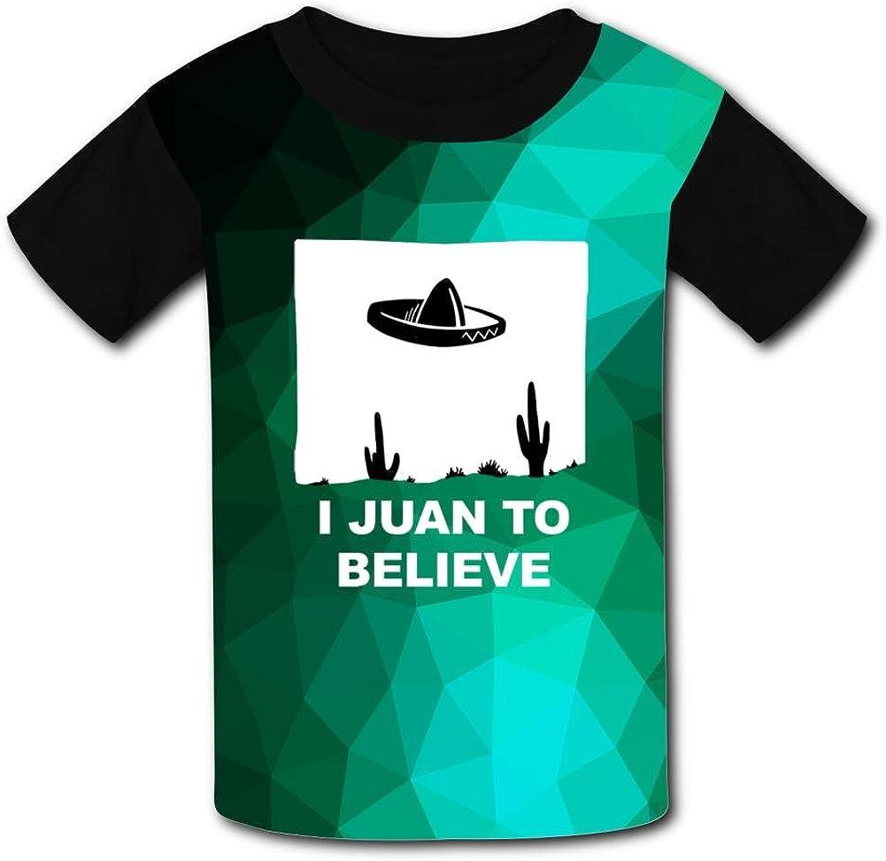 Aslgisy I Juan to Believe Casual T-Shirt Short Sleeve for Kids