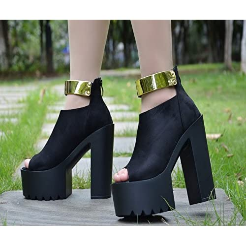 Tacon Nuevo Zapatos Grueso 15 Sandalias Cm Xiaogao De 67gbfy