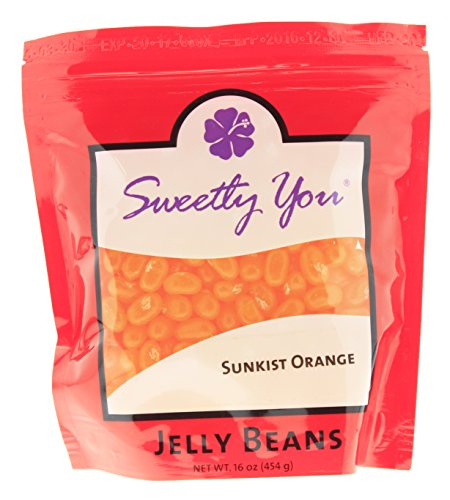Jelly Belly 16 OZ Orange Flavored Beans. (Approximately One Pound, ~ 1 Pound) bulk jelly beans in a resealable bag.]()