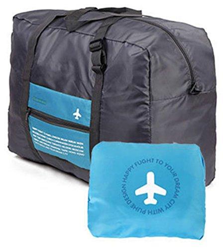 versione coreana del sacchetto pacchetto di ammissione pieghevole di viaggio di grande capacità portatile impermeabile in nylon valigia multifunzione (Blu)