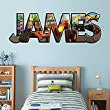 PERSONALIZED NAME Blaze And The Monster Machines Decal WALL STICKER Art J242, Regular