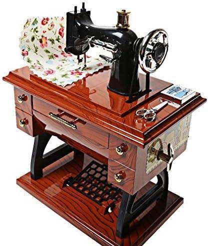 SHOME Vintage Mini Máquina de Coser Estilo de Plástico Caja de Música Mesa de Mesa de Decoración Del Coche Regalo de Juguete para Niños: Amazon.es: Hogar