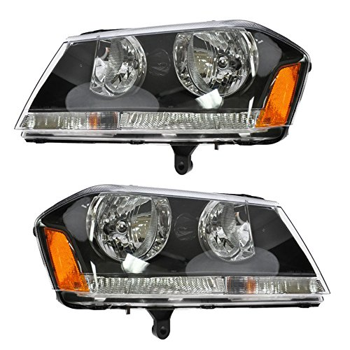 (Headlights Headlamps Left & Right Pair Set for 08-10 Dodge Avenger)