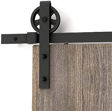 AiHom 1.83m llanta puertas acero puerta corrediza de granero Hardware: Amazon.es: Bricolaje y herramientas