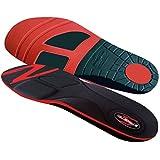 Stridetek Cross Trainer Orthotic Insoles - Arch Support Metatarsal Pad & Gel Plugs Prevent Foot Pain Plantar Fasciitis & Shin Splints - (Red) - Mens 14 / Womens 15
