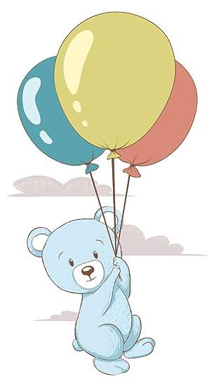 Wandtattoo Babyzimmer Tiere Wandsticker Fliegender Teddybar Mit