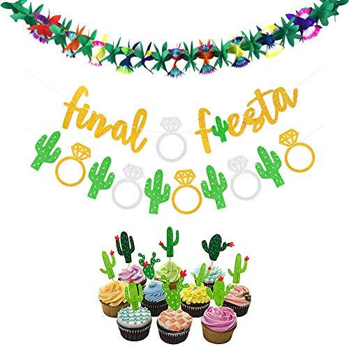 Final Fiesta Party Supplies,11PCS Mexican FiestaTheme Party Decor,Bachelorette
