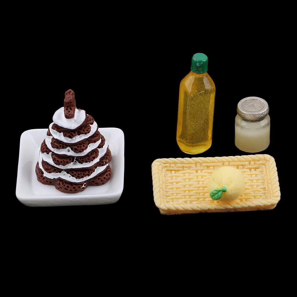 Amazon.es: Baoblaze Mini Canasta de Plástivo Modelismo Alimento para Dollhouse Escala 1/12: Juguetes y juegos