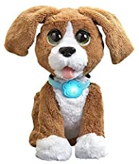 Chatty Charlie, the Barkin' Beagle pet is one fun dog. This cuddly pup's collar translates barks to phrases so you can understand him. With 80+ barks to phrases, he has a lot to talk about! Watch his ears move as he tries to hide his face! He...