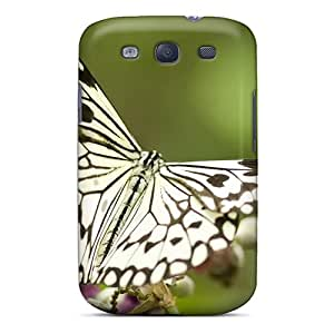 Brand New S3 Defender Case For Galaxy (butterfly On Flowers)