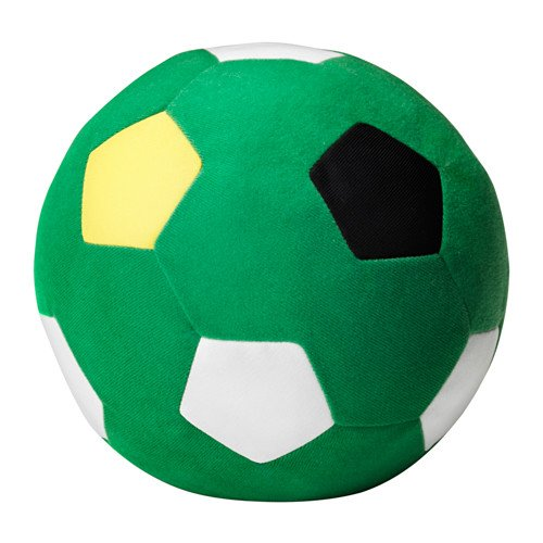 Amazon.com: Ikea 2 packs Soft toy, green football, green: Kitchen & Dining