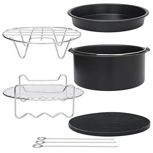 Stillcool Universal Air Fryer Accessories Set of 5 Deep Fryer Fit all Standard Air Fryer 3.2-5.8QT (5)