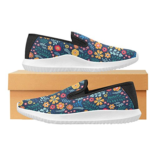 InterestPrint Womens Slip-On Loafer Shoes Canvas Fashion Sneakers Multi 8 28f8nP