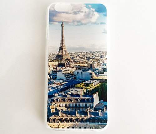 Parisian Finish (iPhone 6S Case: TheCityCase® [Paris - Parisian Roofs] Premium and HQ Shock-absorbing TPU with Durable Bumper Cover Frame, Soft Anti-scratch Finish Work. For iPhone 6 or iPhone 6S)