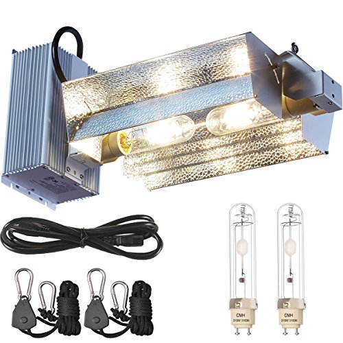 630W CMH CDM Grow Light Kit W/Bulb 120/240V Replace 4X300W/2X600W/1.2X1000W LED Grow Light (Wide Adjust CMH 630W(3100K))