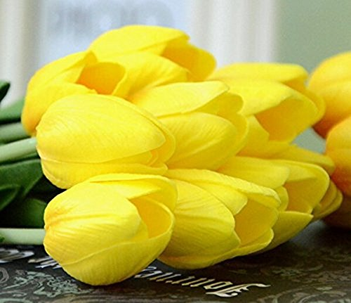 Artificial Flowers 12pcs//Bag Mini Tulip Fake Great Wedding Party Home Room Decor