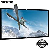 72 inch Projector Screen Rolled Up Portable Screen for Outdoor Indoor 4K Full HD Projection Screen Wrinkles Free