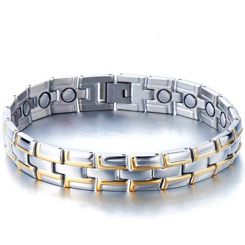 Timeless Stainless Silver Magnetic Bracelet
