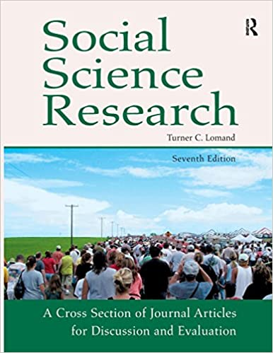 Great Social Science Research: A Cross Section Of Journal Articles For Discussion  U0026 Evaluation 7th Edition