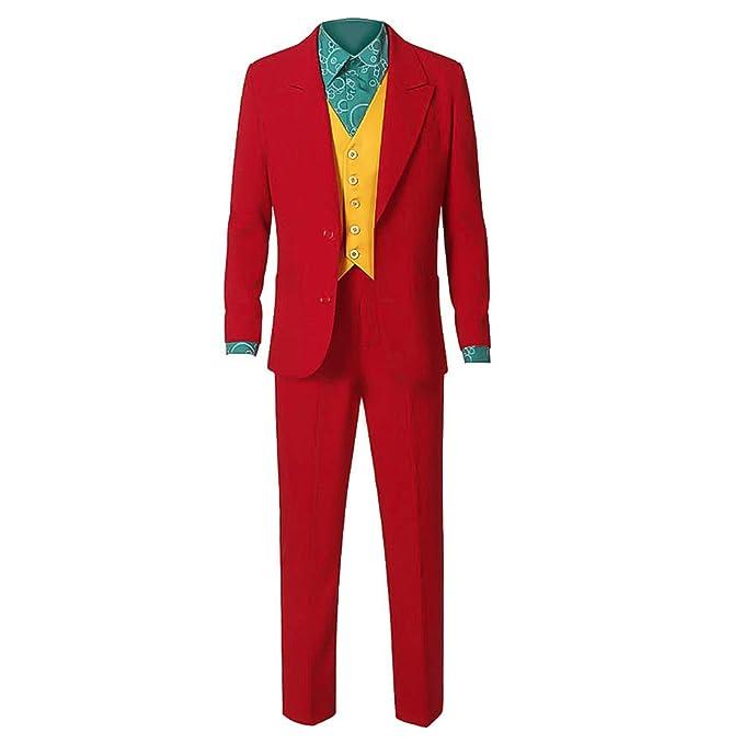 Adulto Bufón Cosplay Joker Disfraces Novedad Cosplay Camisas Accesorios Verde Blazers Pantalones Traje Set para Halloween, Carnaval, Partido, ...