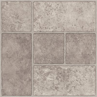 Trafficmaster 26293 Peel N' Stick Tile 12'' X 12'' Bodden Bay Grey 1.65 mm (0.065'') / 30 sq. ft. Per Case, 2.15'' x 12.25'' x 12.25'' (Pack of 30) by Trafficmaster