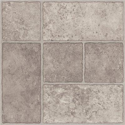 Trafficmaster 26293 Peel N' Stick Tile 12'' X 12'' Bodden Bay Grey 1.65 mm (0.065'') / 30 sq. ft. Per Case, 2.15'' x 12.25'' x 12.25'' (Pack of 30)