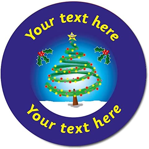 72 Personalised Holographic Sparkly Christmas Xmas Santa Father Christmas Motivational School Praise Teachers Reward Stickers Gift Labels 35mm Primary Teaching Services