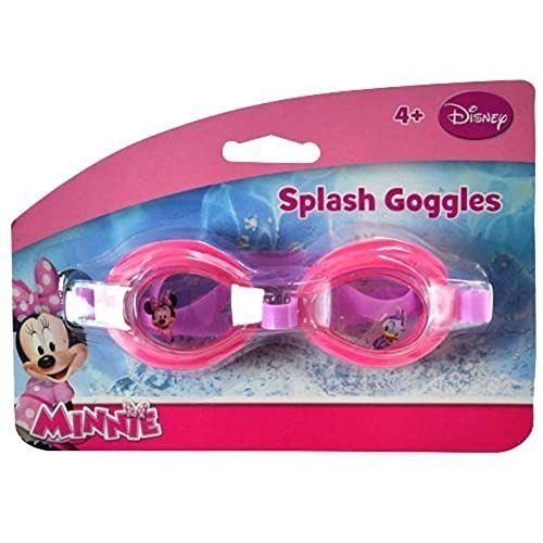 Disney Jr. Minnie Mouse Big Time Splash Classic Swim Goggles! Water Tight! Perfect For Summer Water Play!