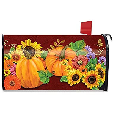 Fall Glory Floral Magnetic Mailbox Cover Sunflowers Pumpkins Briarwood Lane