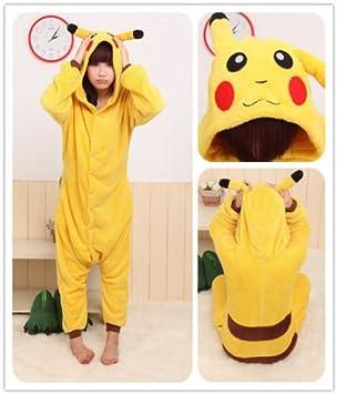 Adulto Unisexo Pokemon Pikachu onesie Fiesta Disfraz de Kigurumi ...
