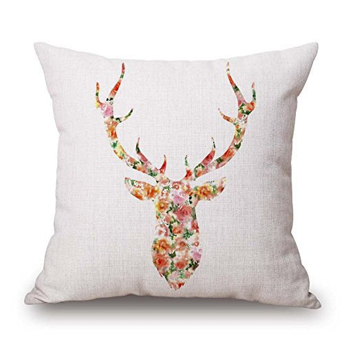 Deer Throw Pillow Case Best For Divan Family Play Room Lover Office Valentine 16 X 16 Inches/40 By 40 Cm(both Sides)