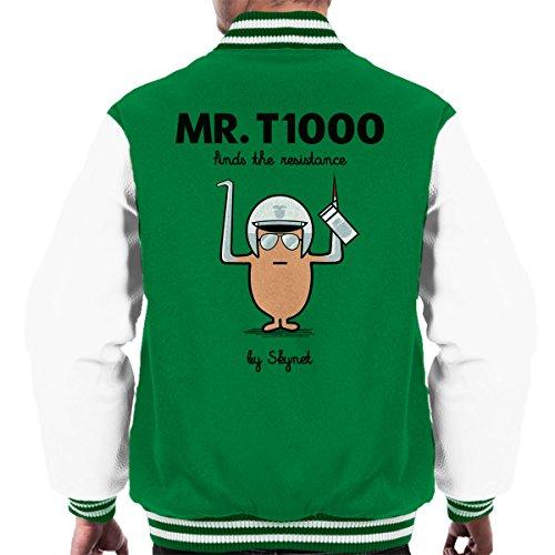 T1000 white Terminator Jacket Varsity Ii Men Men's Kelly Mr HqR6CgC