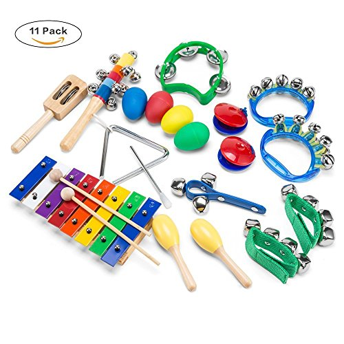 Wonyered Kids 11PCS Musical Instruments Xylopho...