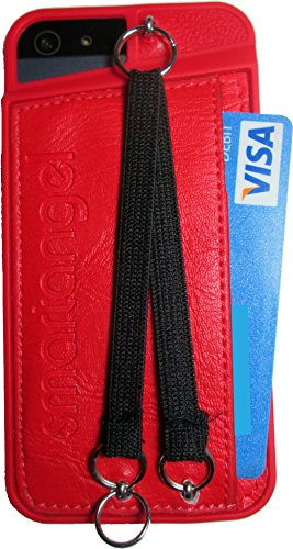 New Iphone 5 5s Pu Leather Wallet Case With Duo Neck