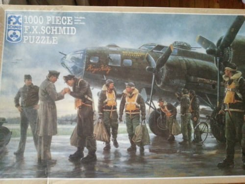 "Coming Home: England 1943 F.X. Schmid 1000 pc Puzzle 26"" X 17"" Gil Cohen"