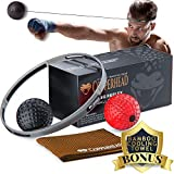 Copperhead Boxing Reflex Ball Punching Fight Ball Head Band - 2 Difficulty Level, Training Set Instructions, Fitness Headband, Reaction, Skill, Agility, Speed, Hand Eye Coordination, MMA Equipment