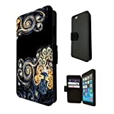452 - doctor who tardis van gogh canvas Design Fashion Trend TPU Leather Flip Case For Apple iPhone 6 Full Case Flip TPU Leather Purse Pouch Defender Stand Cover