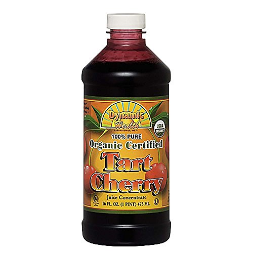 Dynamic Health 100% Pure Organic Certified Tart Cherry Juice Concentrate, 16-Ounce