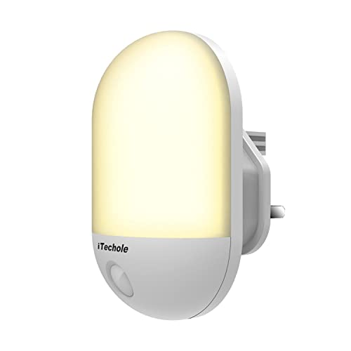 LED Night Light, iTechole Plug-and-Play Automatic Wall Lights with Dusk to Dawn Photocell Sensor, Night Lamp Lighting for Babyroom, Kids, Children's room, Nurseries, Stair, Hallway, etc-Warm White