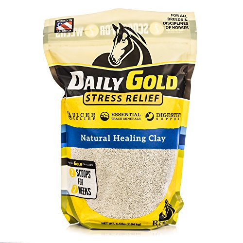 Redmond Daily Gold Stress Relief, Natural Healing Clay for Horses, 4.5 lb. Pouch