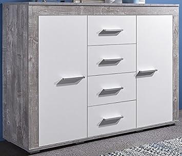 Anrichte Weiss Grau Gescheckt Beton Bv Vertrieb Sideboard Weiss Grau