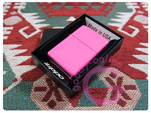 (Zippo Sugar Skull with Lightning Bolts Pink Matte Lighter)