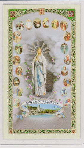 Prayer Cards Rosary (Mysteries of the Rosary Holy Prayer Card Fully Laminated with Cross Bookmark)