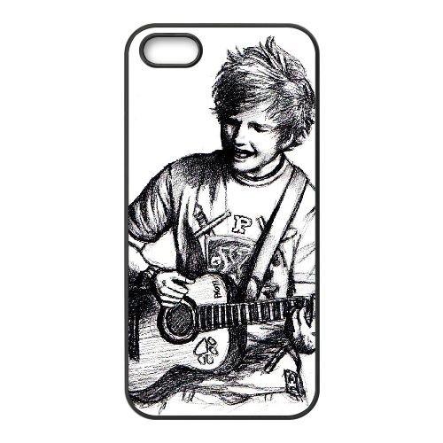 Ed Sheeran 009 coque iPhone 4 4S cellulaire cas coque de téléphone cas téléphone cellulaire noir couvercle EEEXLKNBC24764